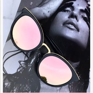 Accessories - MIA Rose-Gold Mirror Sunglasses
